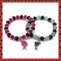 Miraculous Ladybug Kwami Inspired Tikki And Plagg Stretch Bracelets