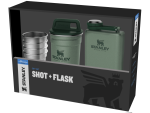 Stanley Adventure Shot And Flask Gift Set Green