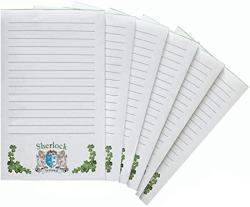 USA Sherlock Irish Coat Of Arms Notepads - Set Of 6