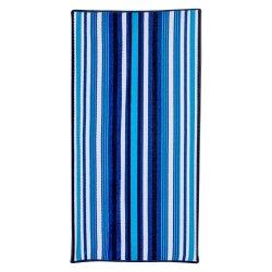 Mainstays Turq Navy Textured Stripe Beach Towel