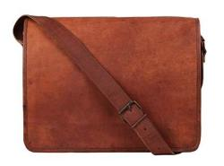 Rustic Town 11 Inch Vintage Crossbody Genuine Leather Laptop Messenger Bag