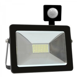 Eurolux 20W LED Floodlight With Sensor Black