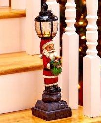 LTD Lighted Holiday Santa Lampposts