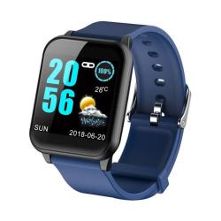 Z02 1.3 Inch Tft Color Screen IP67 Waterproof Smart Bracelet Support Call Reminder Heart Rate Monitoring blood Pressure Monitoring Sleep Monitoring blood Oxygen Monitoring Blue