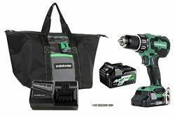 Metabo Hpt DV18DBFL2T 18V Cordless Brushless Hammer Drill Includes Two Batteries 1-36V 18V Multivolt 5.0 Ah & 1-18V Compact 3.0