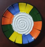 Colorful African Grater Plate