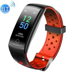 Q8L 0.96 Inch Full Circle Full Touch Steel Strap Smart Sport Watch IP6 Waterproof Support Real-time Heart Rate Monitoring Sleep Monitoring Bluetooth Red