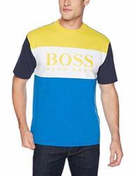 Boss Orange Men's T-bold Short Sleeve Logo Tee Bright Blue Medium