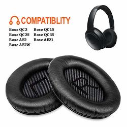 Quiet Bose Comfort 35 Replacement Earpads Feych 2 Pieces Noise Isolation Memory Foam Ear Cushions Cover For Bose QC35 QC25 QC15