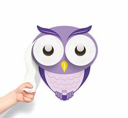 Kookoohoot - Toilet Paper Holder - Bath Time Decoration - Potty Training - Owl