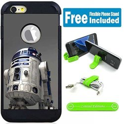 Limited Editions Apple Ipod Touch 5 6 5TH 6TH Generation Hybrid Armor Defender Case Cover With Flexible Phone Stand - Star Wars R2D2 Realpix