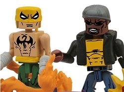 Diamond Select Marvel Minimates Best Of Series 3 2 Inch Minifigure 2-PACK Luke Cage Power Man & Dragon Attack Iron Fist