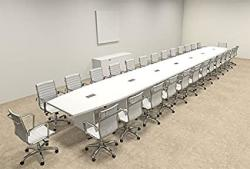 Modern Boat Shaped 30' Feet Conference Table OF-CON-C132