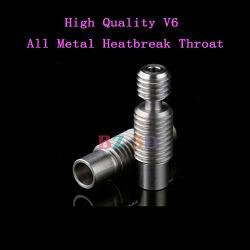 Bz 3D Super Smooth High Precision V6 Heat Break Heatbreak Throat All Metal titanium Alloy For V6 Hotend Bowden Extruder 1.75MM Filament 3D Printer Parts 2PCS