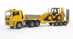 MAN Tga Low Loader Truck W jcb