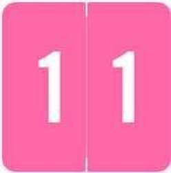 Acme Numeric Labels - Acnm Series Rolls - 1 - Pink