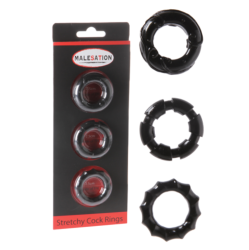 Malesation Stretchy Cock Ring Set