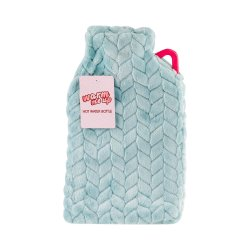 Hot Water Bottle With Cover 2L - L.blue