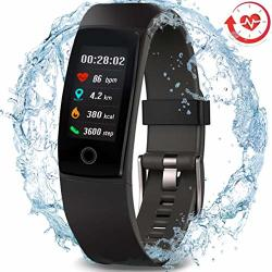 MOREPRO Waterproof Health Tracker Fitness Tracker Color Screen Sport Smart Watch Activity Tracker With Heart Rate Blood Pressure Calories Pedometer Sleep Monitor Call sms Remind