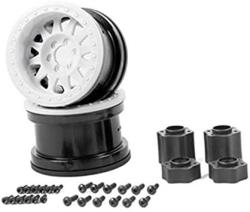 "USA Axial Method Ifd 2.2"" Rock Crawler Wheels 2 White"