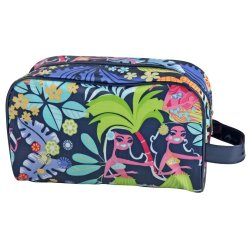 TRAVEL - Leatherette Toiletry Bag Floral