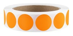 """Chromalabel.com 1"""" Orange Color-code Dot Labels On Cores - Permanent Adhesive 1.00 Inch - 1 000 Stickers Per Roll"""