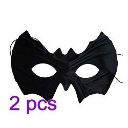 FenglinTech Halloween Mask 2PCS Half Face Batman Eye Mask Venetian Masquerade Mask Party Costumes Accessory