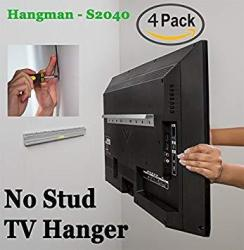 4 Pack Kit Hangman Products - No Stud Tv Hanger Mount Tvs Up To 55-INCH S2040A