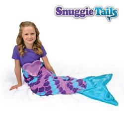 Snuggie Tails Title Comfy Cozy Mermaid Blanket in Purple