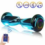 Sisigad Hoverboard Self Balancing Scooter 6.5 Two-wheel Self Balancing Hoverboard With Bluetooth Speaker And LED Lights Electric