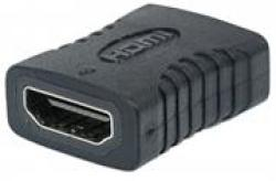 HDMI Manhattan Coupler - A Female To A Female Straight Connection Retail Box Limited Lifetime Warranty