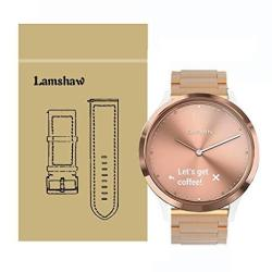 For Garmin Vivomove Hr Bands Lamshaw Quick Release Stainless Steel Metal Replacement Straps For Garmin Vivomove Hr Smartwatch Me