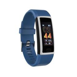 118PLUS 1.14 Inch Tft Screen Smart Bluetooth Bracelet Support Call Reminder Heart Rate Monitoring Blood Pressure Monitoring Sleep Monitoring Blue