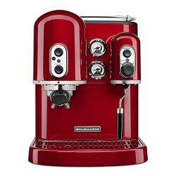 KitchenAid Pro Line Series Espresso Maker With Dual Independent Boilers KES2102CA One Size Candy Apple Red