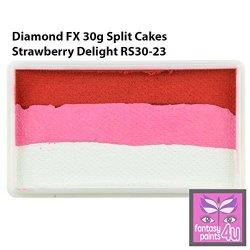 Diamond Fx 30G Split Cake One Stroke Face Paint Strawberry Delight RS30-23 By Diamond Fx Split Cakes