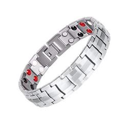Double Magnets Titanium Magnetic Therapy Bracelet Pain Relief For Arthritis And Carpal Tunnel Stainless Steel
