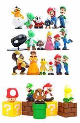 "28 Set Super Mario BrOthers Super Mary Princess Turtle Mushroom Orangutan Super Mario Action Figures 2"" Action Figures Set"