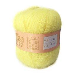 Jiangyin Alice Ball Of Wool Spinning Co., LTD Celine Lin One Skein Soft&warm Angola Mohair Cashmere Wool Knitting Yarn 50G Light Yellow