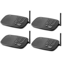 Hosmart Wireless Intercom System 1 2 Mile Long Range 7-CHANNEL Security Wireless Intercom System For Home Or Office 2018 New Version 2 Stations Blac