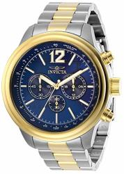 Invicta Men's Aviator Quartz Watch With Stainless Steel Strap Two Tone 22 Model: 28897