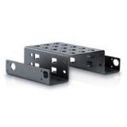 Black SmartLifeTime 2-Bay 3.5 inch to 2.5 inch SATA SSD HDD Hard Drive Caddy Internal Mounting Adapter Bracket Converter Metal Material Mobile Rack Holder