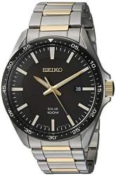 Seiko Men's Sport Watches Japanese-quartz Stainless-steel Strap Silver 19 Model: SNE485
