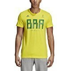 SLD Of The Adidas Group Adidas World Cup Soccer Brazil Men's Tee Medium Yellow