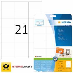 Herma Premium - Permanent Self-adhesive Matte Laminated Paper Labels - Wei