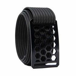 34 Inch Black Honeycomb Belt Buckle W black Strap