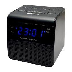 Sinotec - Bluetooth Alarm Clock Radio Black CRB-3368