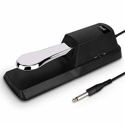Mugig Universal Sustain Pedal Classic Piano Style Foot Pedal For Casio Yamaha Korg Electronic Keyboards Digital Piano