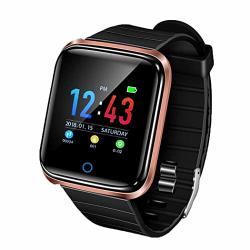 Oguine Fitness Tracker HD Color Screen Waterproof Smartwatch Touch Control Smart Watch Heart Rate Monitor Pedometer Activity Tracker