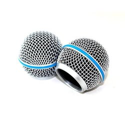 Weymic Replacement Blue Steel Mesh Microphone Grill Head For WM-BT58A Shure SM58 SM48 Wireless Microphone And Wired Mics Beta 58 A Shure SV100 Wireless