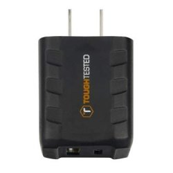 Toughtested Power Share 15W Dual USB Type-c & USB Type-a Wall Charger Black